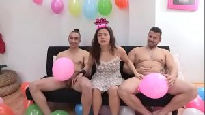 Alba's now 19 and wants to try her first two cocks at the same time